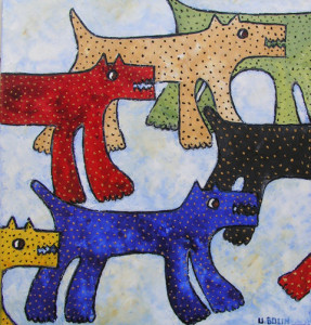 Hundar, triptyk 1 - Ulla Bolin