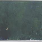 Göte Hultqvist - Grön målning med gul fläck