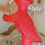 """Glasskulpturen """"Pretty Woman"""", av Kjell Engman, ingår i serien """"Catwalk"""""""
