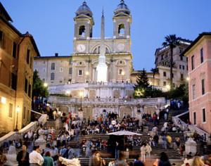 Spanska trappan är mötesplatsen framför andra i Rom.