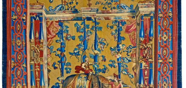 apetsvit tillverkad vid Beauvais efter förlaga av Jean Baptiste Monnoyer, 1695.